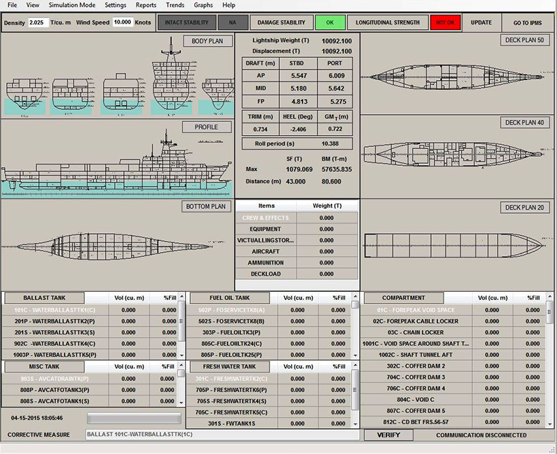 Ship Loadicator –Check Functionality of Zebec Loadmaster